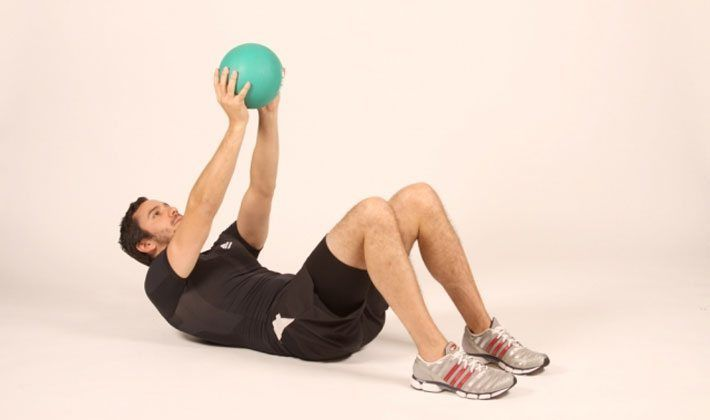 Abdominales con pesas (weighted sit-ups)
