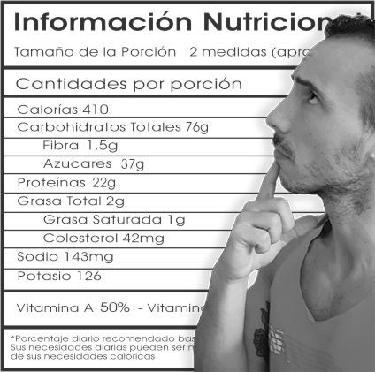 Cómo leer la etiqueta nutricional EN 5 SEGUNDOS.